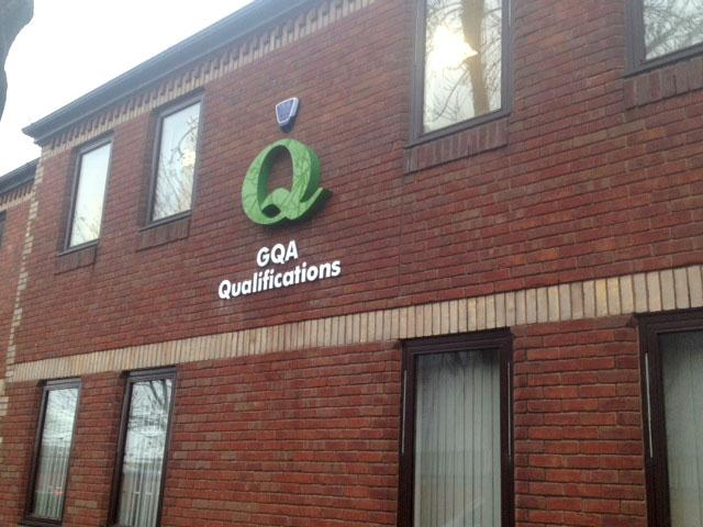 3d signage for GQA Qualifications in Sheffield