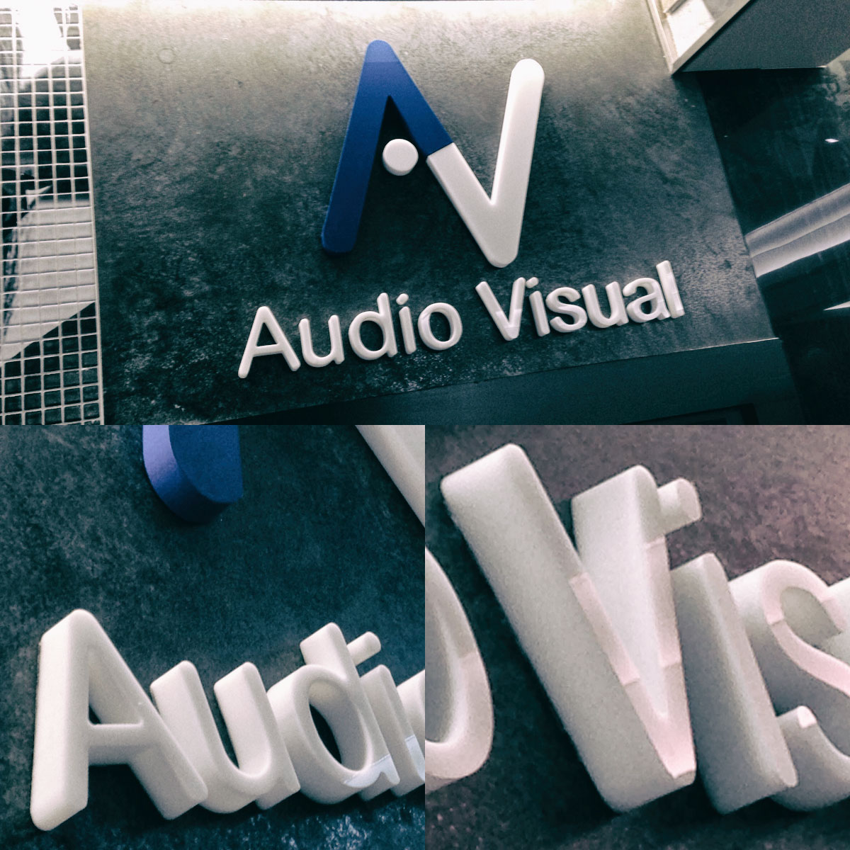 Audio Visual 3D sign maker sheffield