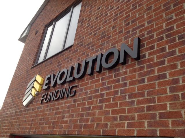 Evolution Funding 3D Signage