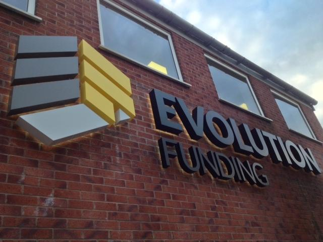 Evolution Funding 3D stainless steel letters