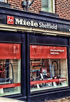 Miele, Sheffield - 3D shop-front signage