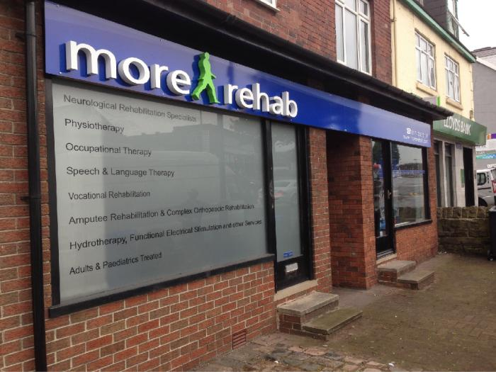 More Rehab 3d signs backlit illuminated signs Sheffield