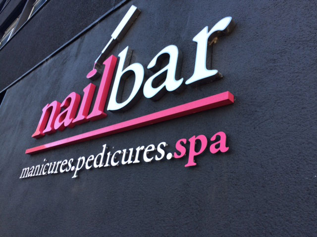 3d signage for Nail Bar Sheffield