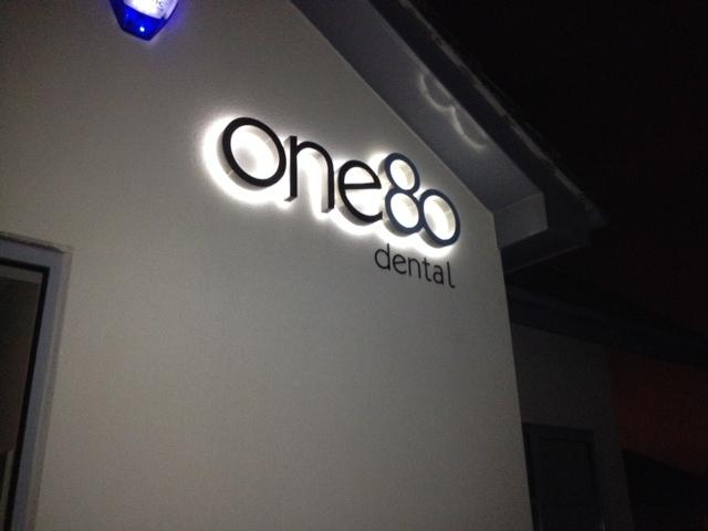 One80 Dental LED Sign Letters