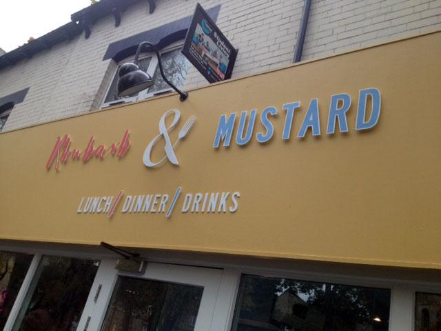 Rhubard and Mustard 3d signs Sheffield