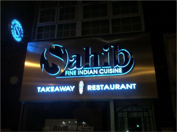 Blue LED sign