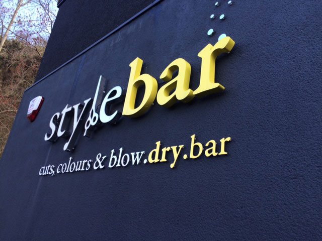 3d signage for Style Bar Sheffield