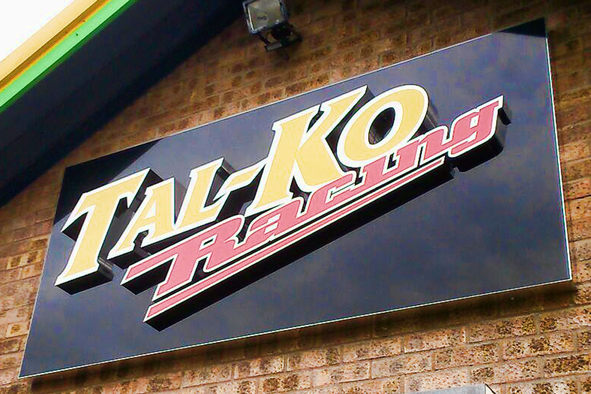 3D sign for Tal-Ko Racing