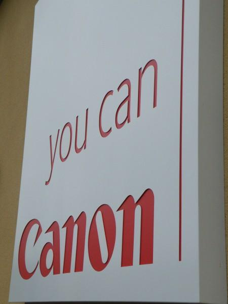 Canon CNC routered signage Sheffield