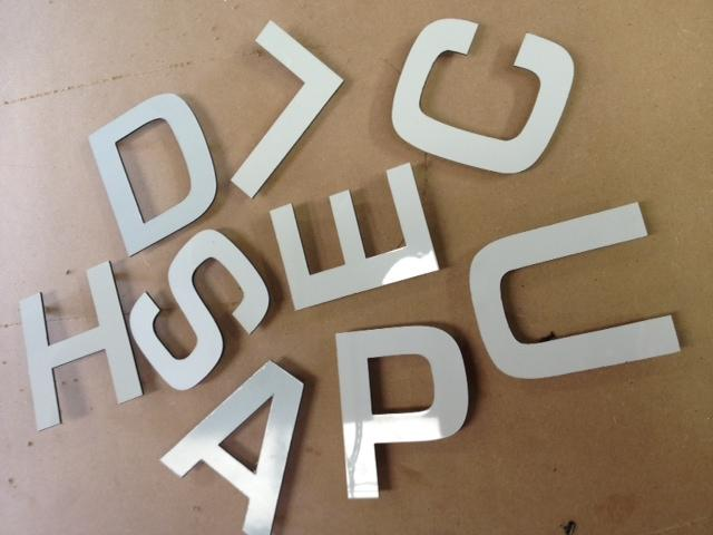 cnc routered letters