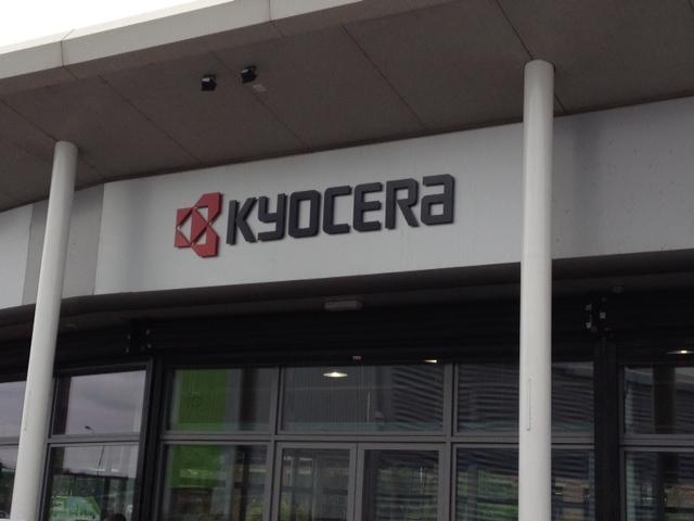 Kyocera 3d Perspex letters - Sheffield