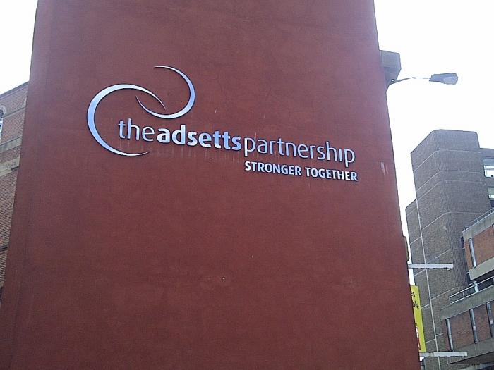 The Adsetts Partnership 3D stainless steel letters