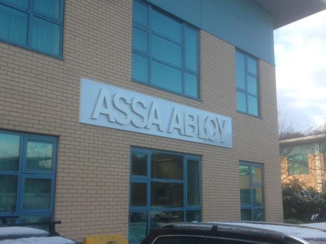 Assa Abloy Large Building Sign Sheffield