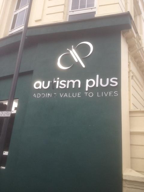 Autism Plus Stainless Steel Lettering Sheffield