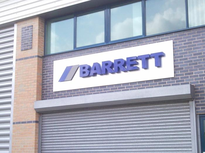 Barrett - Industrial Sign Sheffield