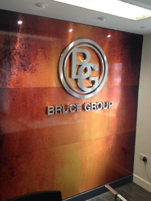 Bruce Group wall signage