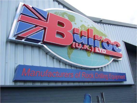 Bulroc U.K Ltd near view - Large Building Sign Sheffield
