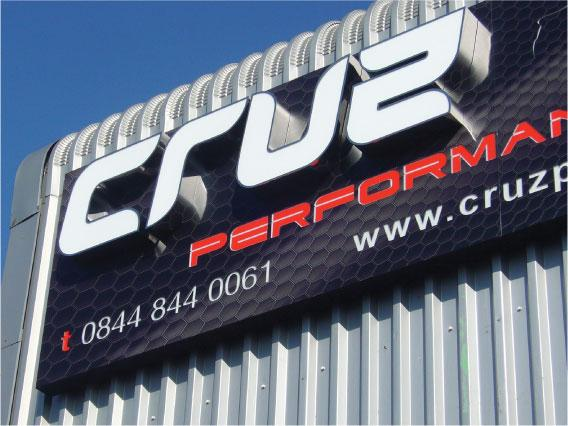 Cruz 3D lettering - Illuminated Lettering Sheffield