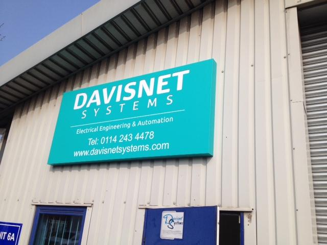 Davisnet Systems outdoor signage Sheffield