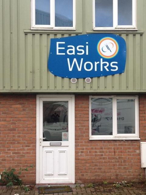 Easi Works - printed sign Sheffield