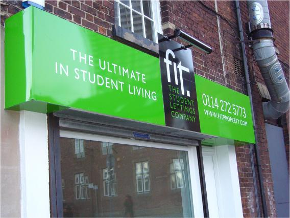 Fit office front sign - office signs Sheffield