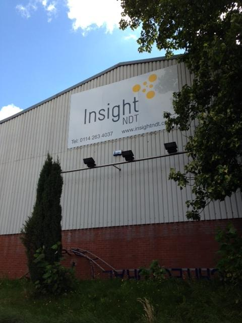 Insight NDT Factory Sign