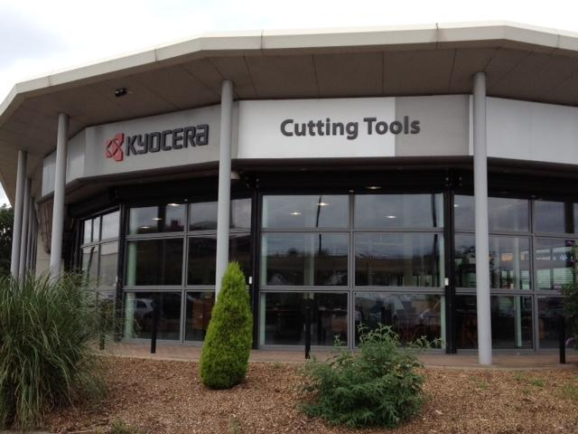 Kyocera front view - Fret cut letters Sheffield