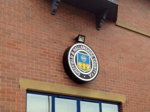 External signage for Sheffield and Hallamshire FC