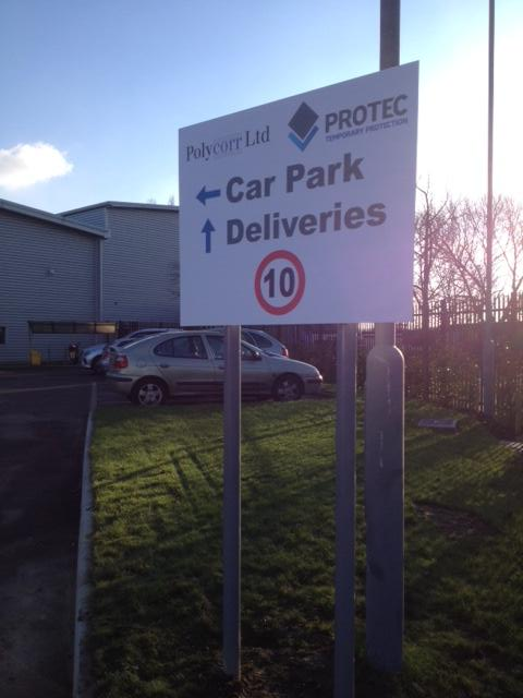 Polycor outdoor signs Sheffield