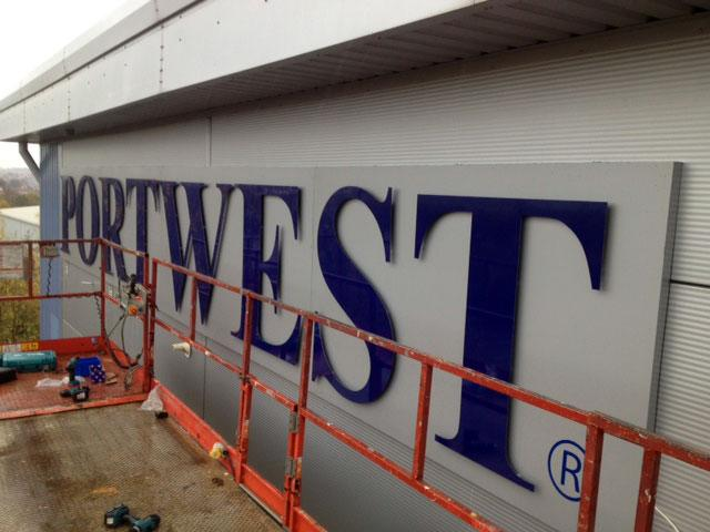 Portwest external signage in Sheffield
