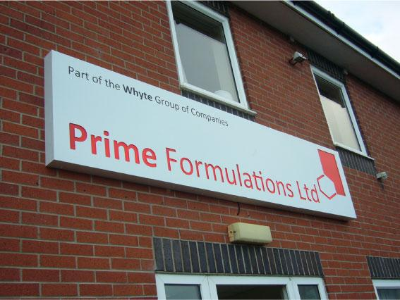 Prime Formulations Ltd - Signs Rotherham