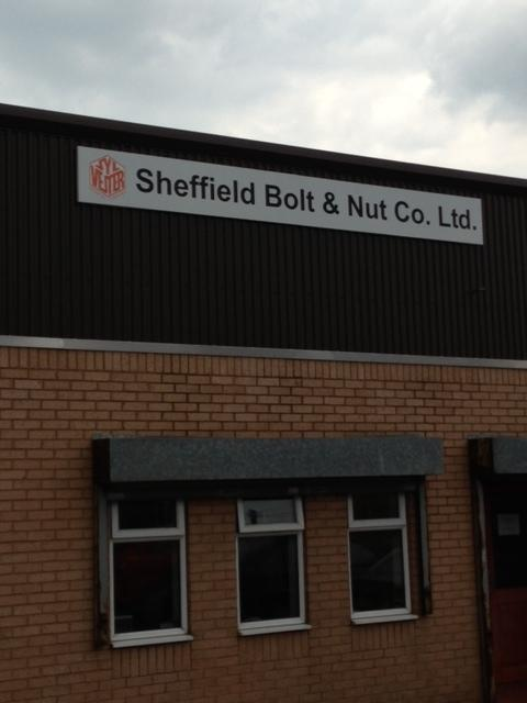 Sheffield Bolt and Nut Company Large Sign