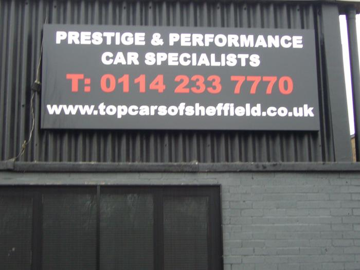 Prestige & Performance Car Specialists - Forecourt Signs Sheffield