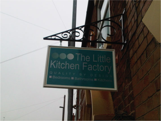 The Little Kitchen Factory projecting sign
