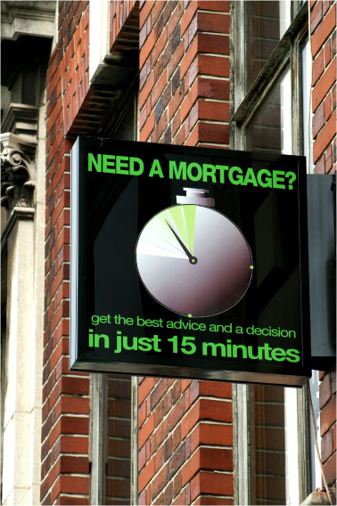 Mortgage projecting sign