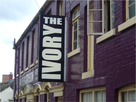 The Ivory projecting signs Sheffield