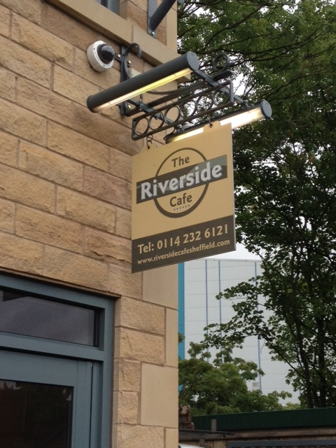 The Riverside Cafe projecting sign