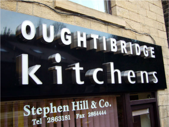 3d shop sign for Outbridge Kitchens - Retail Signage Sheffield