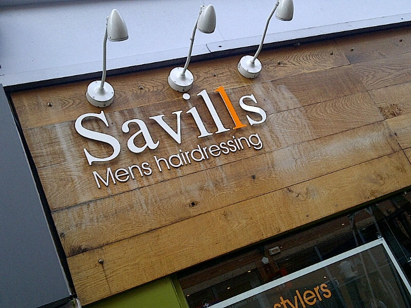 Savills Hair Salon Sign