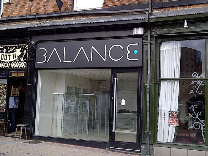 Balance - Shop Sign Sheffield