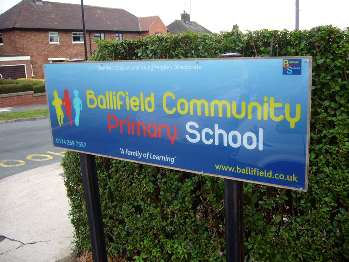 Ballifield Community Primary School Sign - School Signs Sheffield
