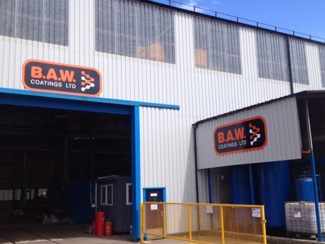 BAW Coatings signage Sheffield