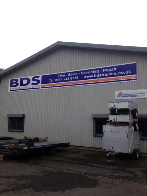 BDS Trailers industrial signs Sheffield