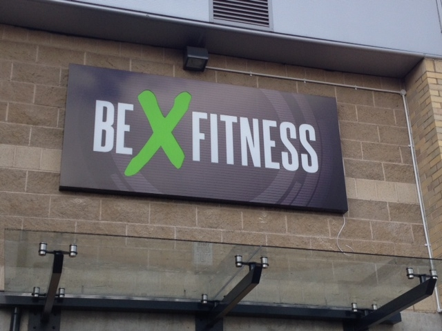 Be Fitness illuminated sign shop sheffield