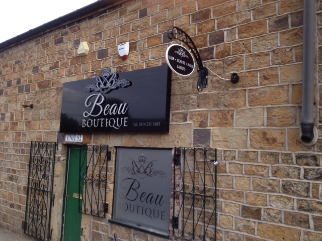 Beau Boutique Salon signage Sheffield