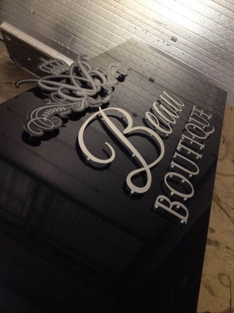 Beau Boutique Salon Sign Sheffield