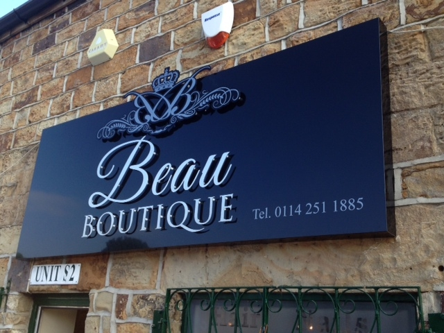 Beau Boutique Signage Sheffield