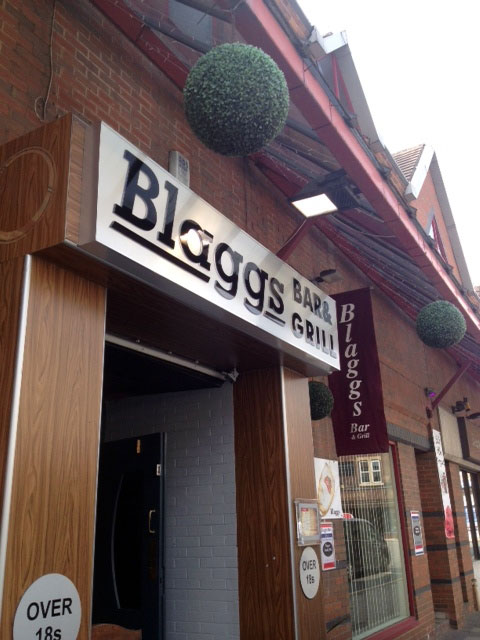 Blaggs Bar restaurant signs Sheffield