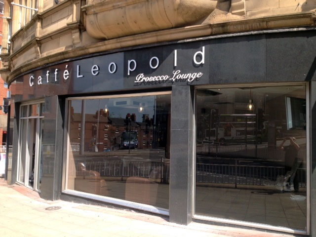 Caffe Leopold restaurant signs Sheffield