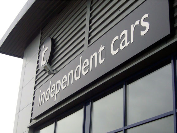 Car dealership signage from signmakers Sheffield